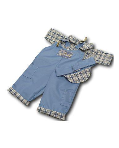 Полукомбинезон - Голубой. Одежда для кукол, пупсов и мягких игрушек.