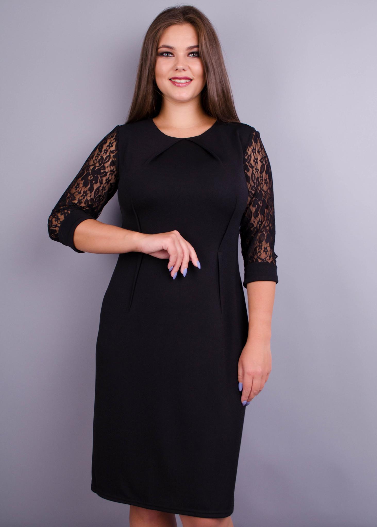 Ля Руж. Стильне жіноче плаття великих розмірів. Чорний. - купить по ... b347ae3c838bc