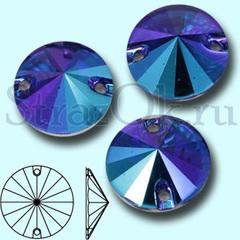 Купите стразы пришивные для украшения джинсы Rivoli Sapphire AB, Риволи Сапфир синие