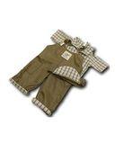 Полукомбинезон - Хаки. Одежда для кукол, пупсов и мягких игрушек.