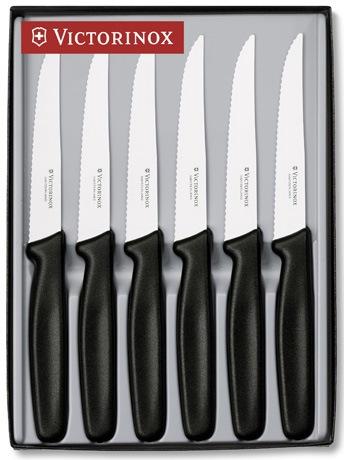 Набор из 6-и ножей 5.1123/black Victorinox (5.1123.6)