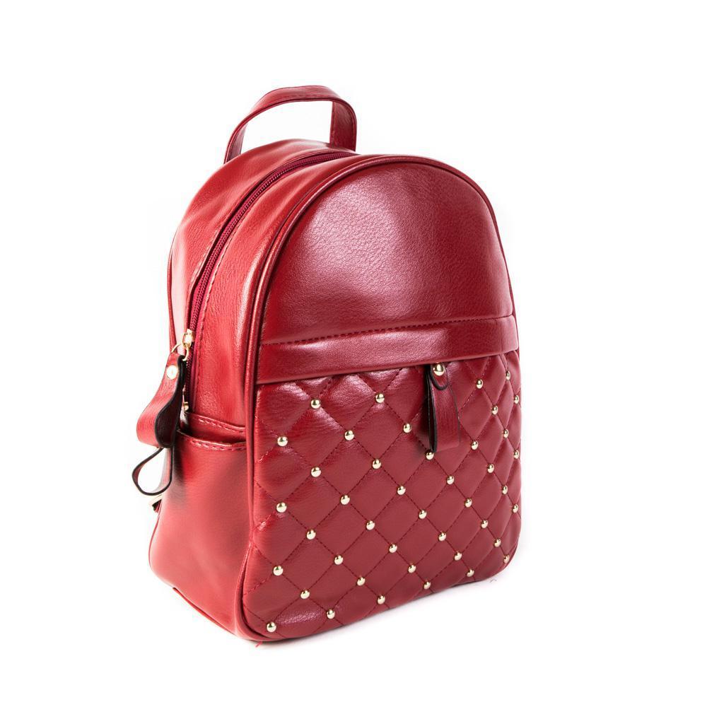 Женский средний рюкзак 23х28,5х12 см красный 4798-4