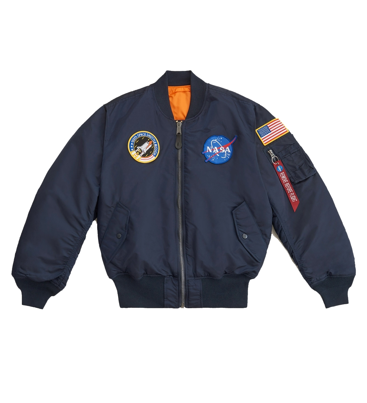бомбер Alpha Industries MA-1 NASA Replica Blue