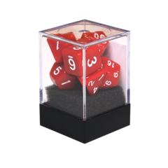 Набор разногранных красных кубиков