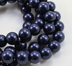 5810 Хрустальный жемчуг Сваровски Crystal Night Blue круглый 6 мм, 5 штук