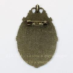 Основа для броши  с сеттингом для кабошона 40х30 мм и петелькой