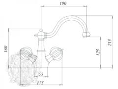 Смеситель для раковины Migliore Olivia ML.OLV-5834.BI.CR хром схема
