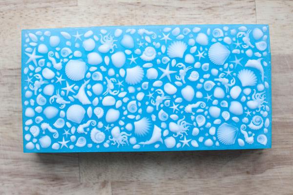 Мыло Море. Лист текстурный для мыловарения