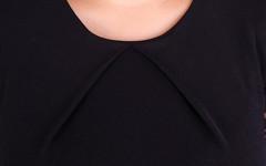 Ля Руж. Стильное женское платье больших размеров. Черный.