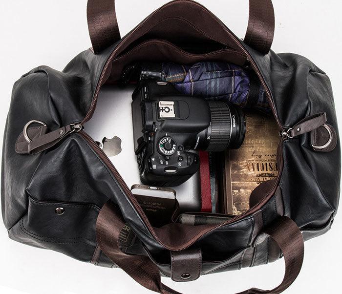 BAG408-1 Стильная мужская сумка из кожи с ремнем на плечо фото 07