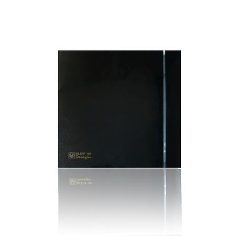 Вентилятор накладной S&P Silent 200 CHZ Design 3C Black (таймер, датчик влажности)