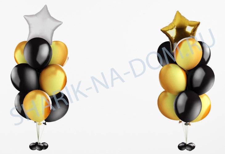 Композиции из шаров Композиция из Черных шаров Комопзиция_из_чёрных_шаров__золото_.jpg