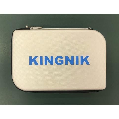 Жесткий прямоугольный чехол для 2-х ракеток Kingnik (серебристый)