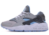 Кроссовки Женские Nike Air Huarache Grey White Sky Blue