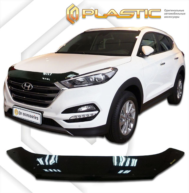 Дефлектор капота Classic для Hyundai Tucson 2015 - free shipping new rear fender tip light red lens for flstc heritage softail classic electra glide