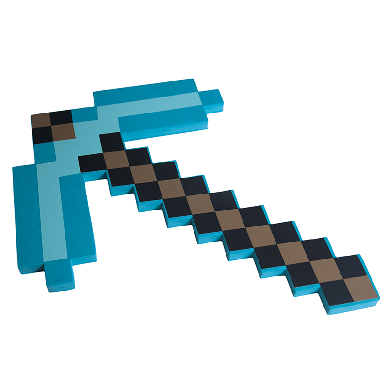 Изумрудная кирка Майнкрафт (Minecraft) 45 см