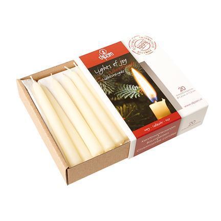 Свечи Рождественские 20шт белые (Dipam)