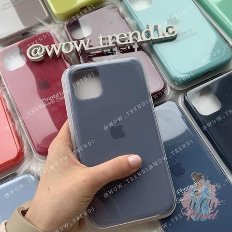 Чехол iPhone 11 Silicone Case Full /lavender gray/