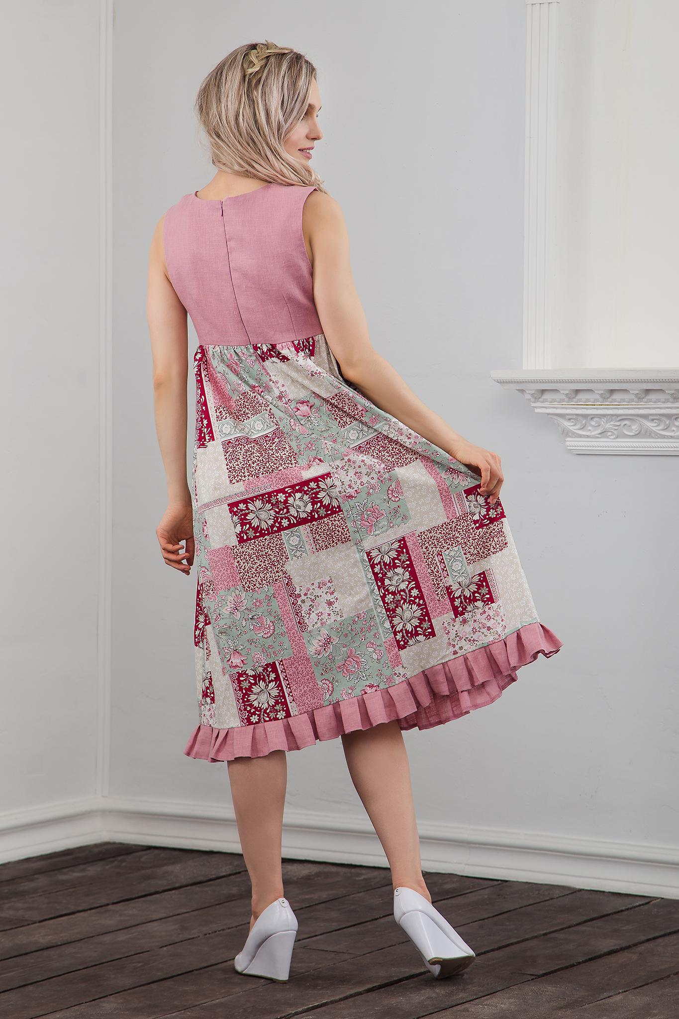 Вид сзади Платье Пэчворк