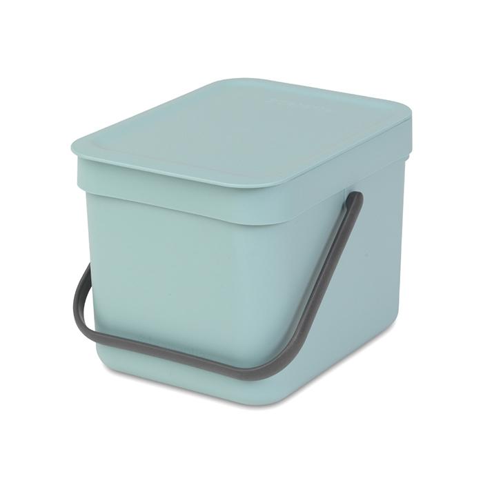 Встраиваемое мусорное ведро Sort & Go (6 л), Мятный, арт. 109645 - фото 1