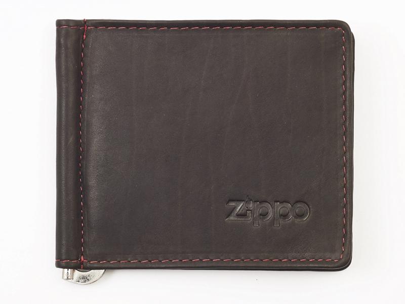 Кожаное двойное портмоне с зажимом для денег ZIPPO 2005125