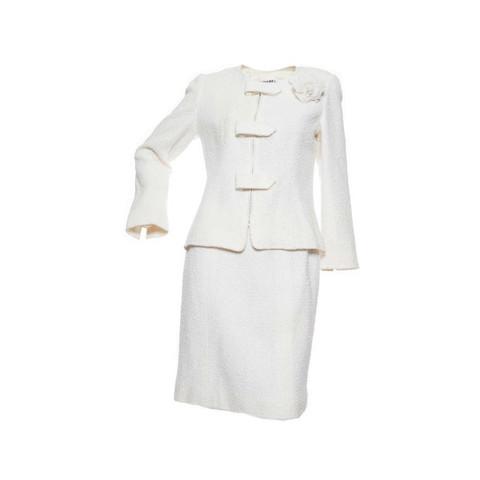 Элегантный твидовый костюм от Chanel, 42 размер