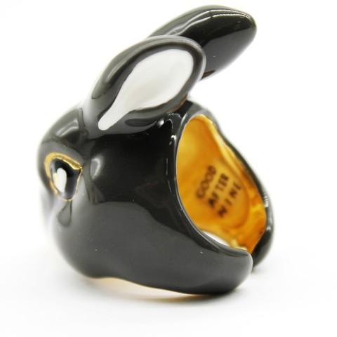 Кольцо Кролик (серый)
