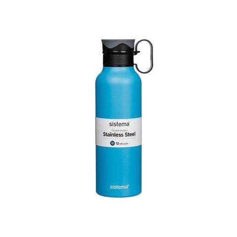 Стальная бутылка Hydrate с петелькой 600 мл, артикул 565, производитель - Sistema