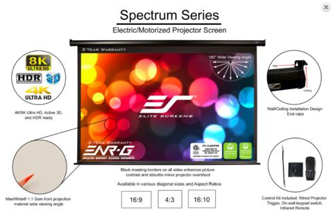 Elite Screens Electric100H, экран электрический
