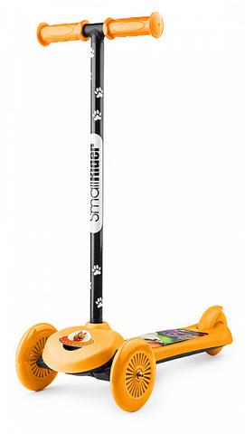 Самокат трёхколёсный простой (оранжевый)