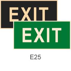 фотолюминесцентные знаки безопасности Е25 Указатель