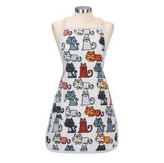 Фартук шенилловый 70х50 Feiler Cats 215 slate grey
