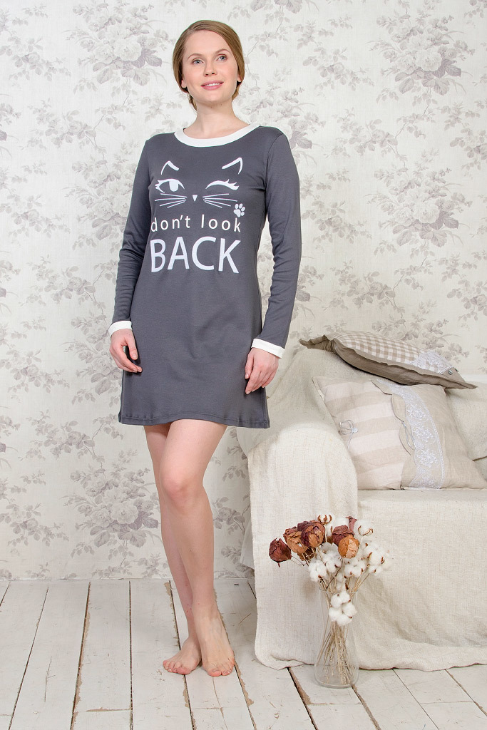 Домашнее платье с кошкой Valery