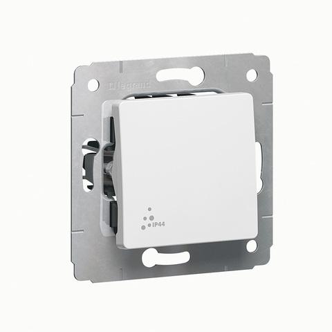 Выключатель одноклавишный IP 44 - 10 AX - 250 В~. Цвет Белый. Legrand Cariva (Легранд Карива). 773609