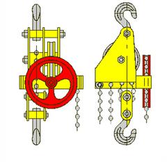 Таль ручная червячная стационарная TOR  ТРЧ 1,0 т 3 м