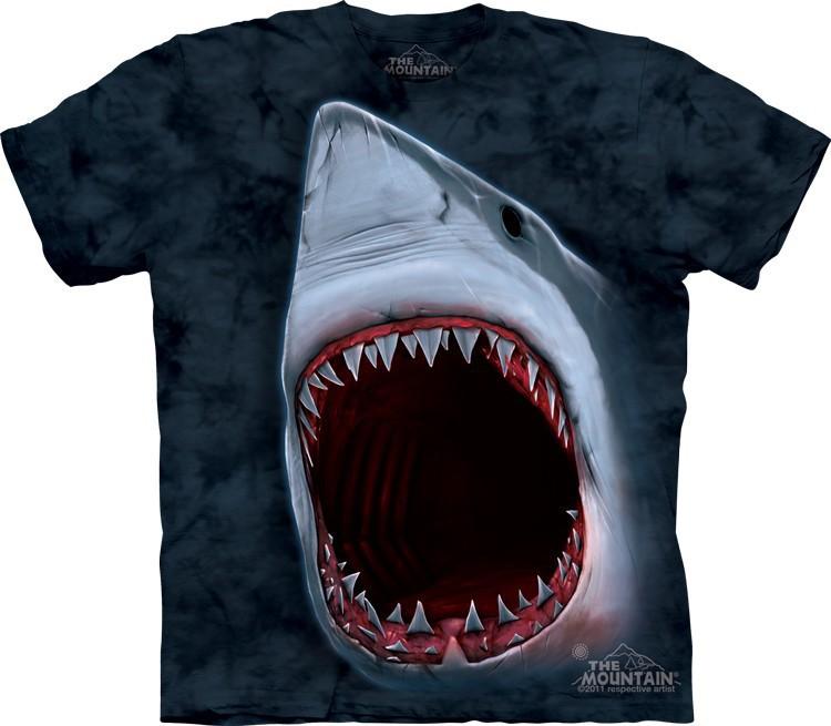 _Футболка Mountain с изображением пасти акулы - Shark Bite