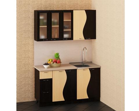 Кухня ВОЛНА КХ-07 венге / дуб беленый