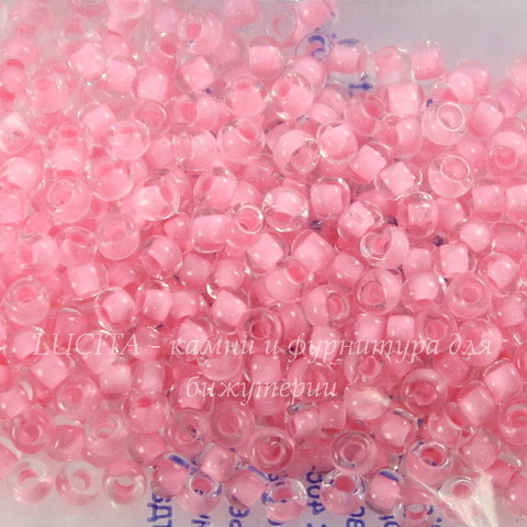 38394 Бисер 10/0 Preciosa Кристалл розовым центром