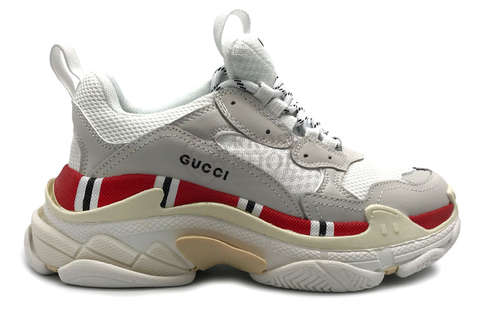 Balenciaga Women's Triple S Gucci White/Red