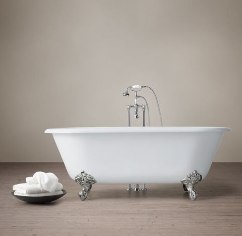 Vintage Imperial Clawfoot Tub with Cross-Handle Tub Fill - Metal Feet
