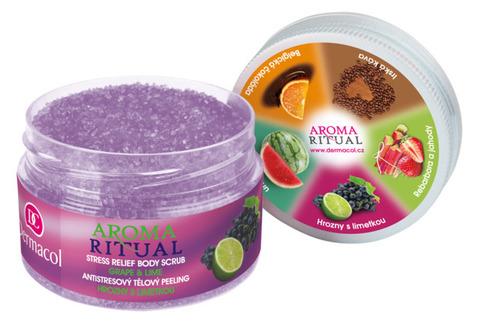 Dermacol Aroma Ritual Body Scrub Grape and Lime Пилинг-антистресс для тела - Виноград и Лайм, с маслом виноградной косточки, 200мл