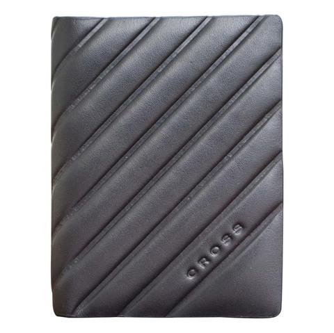 Обложка для кредитных карт Cross Grabado, кожа наппа, фактурная, чёрный, 7,5 х 1 х 10,5 см