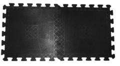 Коврик резиновый 400 х 400 х 20 мм черный