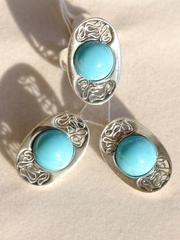 1522 (кольцо + серьги из серебра)