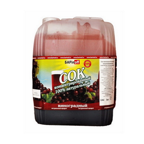 Сок концентрированный виноградный красный, 5 кг