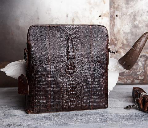 BAG431-2 Стильная мужская сумка из натуральной кожи с фактурой
