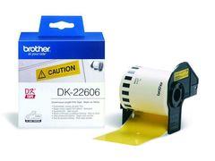Плёночная клеящаяся лента Brother DK-22606 (желтая, ширина 62 мм) длина рулона 15,2 м