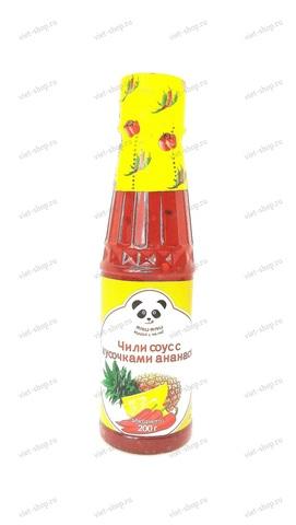 Вьетнамский соус чили, с кусочками ананаса, Ями-Ями, 200 гр.