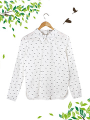 21030 рубашка женская, белая