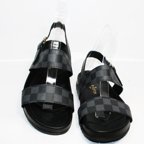 Мужские сандали босоножки черные. Биркенштоки Louis Vuitton.